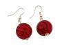 Murano-Ohrringe »Rote Perlen«. Bild 1