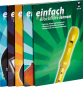 Musiklehrbücher für Neulinge und Wiedereinsteiger. Blockflöte, Blues Harp, E-Bass, Ukulele & Violine. 5 Bände mit CDs. Bild 1
