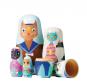 Puppe in der Puppe »Handbemalte Holzkatzen«. Bild 1