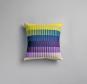 Røros Tweed Kissen »Åsmund Gradient lila/gelb«. Bild 1