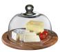 Runde Käseglocke mit Glasdeckel. Bild 1