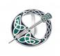 Schal Ring »Keltische Tara-Brosche«, schwarz-grün. Bild 1
