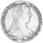 Silbermünze Maria Theresia. Bild 1