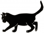 Silhouette »Balancierende Katze«. Bild 1
