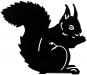 Silhouette »Essendes Eichhörnchen«. Bild 1