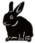 Silhouette »Sitzendes Kaninchen«. Bild 1