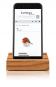 Smartphone-Halter aus Eichenholz. Bild 1