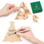 Tannenbaum-Puzzle mit Grußbotschaft, grün. Bild 1
