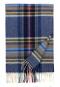 Tartan-Schal aus Kaschmir, blau kariert. Bild 1