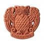 Terracotta Fliese mit Eule. Bild 1