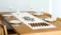 Tischläufer Leinen »Ilex«, weiß. Bild 1