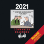 Uli Stein. Schwarzer Kalender 2021. Monatskalender für die Wand. Bild 1