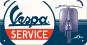 Hängeschild »Vespa Service«. Bild 1