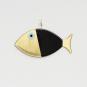 Wanddeko-Fisch aus Bronze, schwarz, Gr. L. Bild 1