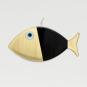 Wanddeko-Fisch aus Bronze, schwarz, Gr. XL. Bild 1