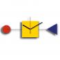 Wanduhr »Tribut an das Bauhaus«. Bild 1