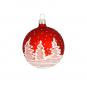 Weihnachtskugel »Tannenbäume«, rot. Bild 1