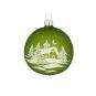Weihnachtskugel »Winterlandschaft«, grün. Bild 1