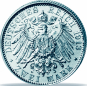 3er-Silbersatz Kaiser Wilhelm II. - 2, 3 und 5 Reichsmark Kaiser Wilhelm II. Bild 2