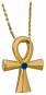 Anch Kreuz - Silber, vergoldet mit Edelsteinen Bild 2