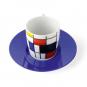 Espressotasse »Piet Mondrian«, blau. Bild 2