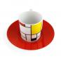 Espressotasse »Piet Mondrian«, rot. Bild 2