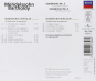Felix Mendelssohn Bartholdy. Symphonien Nr.3 & 4. CD. Bild 2