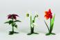 Glasblume »Christrose mit 3 Blüten«. Bild 2