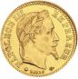 Goldmünze 10 FF mit Kranz Napoleon. Bild 2