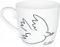 Kaffeebecher »Friedenstaube«, schwarz/weiß. Bild 2