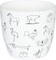 Kaffeebecher »Tierzeichnungen«, schwarzweiß. Bild 2