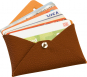 Kartenetui aus Leder »Letter«, braun. Bild 2