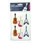 Kikkerland Gitarren Vinylmagnete. Bild 2