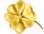 Kleeblatt-Anhänger - Silber, vergoldet Bild 2