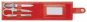 Maniküre-Set, rot. Bild 2