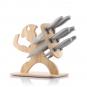 Messer-Set mit Holzhalterung. Bild 2