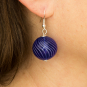 Murano-Ohrringe »Blaue Perlen«. Bild 2