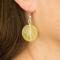 Murano-Ohrringe »Gelbe Perlen«. Bild 2