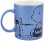 Peanuts Kaffeetasse. Snoopy und Charlie Brown. Metallic Blau. Bild 2