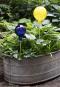 Rosenkugel für den Garten, blau und verspiegelt. Bild 2