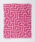 Schal nach Anni Albers »Mäander«, pink. Bild 2