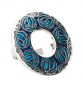 Schal Ring Charles M. Mackintosh »Rose«, türkis. Bild 2