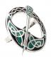 Schal Ring »Keltische Tara-Brosche«, schwarz-grün. Bild 2