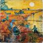 Seidentuch Vincent van Gogh »Der rote Weinberg«. Bild 2
