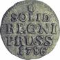 Solidus (Schilling) - Original Silbermünze aus der Zeit Friedrichs des Großen Bild 2