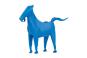 Stift- und Zettelhalter Pferd, blau. Bild 2