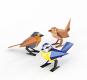 Tier aus Papier. Drei Vögel. Bastel-Set. Bild 2