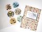 Tier- und Pflanzendarstellungen. Sticker und Etiketten. Bild 2