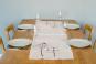 Tischläufer Leinen »Beerenzweig«, weiß. Bild 2