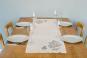 Tischläufer Leinen »Blättermotiv«, weiß. Bild 2